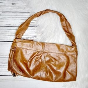 HOBO TAN BROWN SLOUCHY LEATHER HOBO SHOULDER BAG